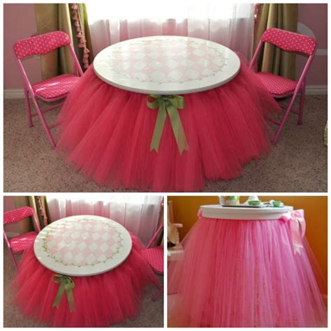 Tulle Tutu Table Skirt Diy Room