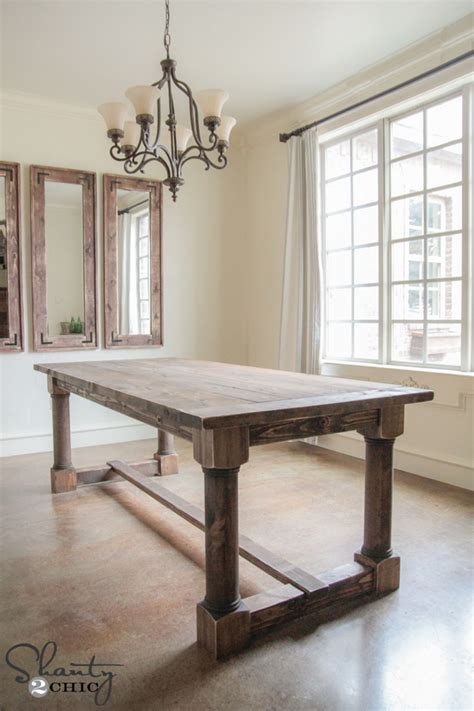 Turned Leg Dining Table Diy Supplies
