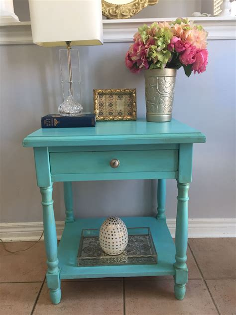 Turquoise Inlay Table Diy Chalk
