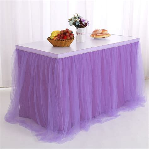 Tutu Skirt Table Diy Chalk