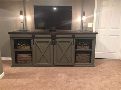 Tv Stand Barn Doors DIY