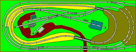 Twice Around Oval Model Railroad Track Plan For Door