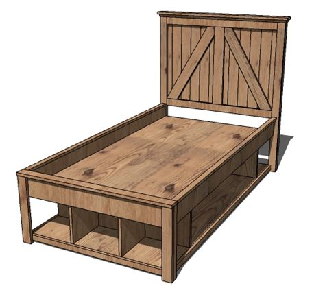Twin Bed Diy Plans Blueprints