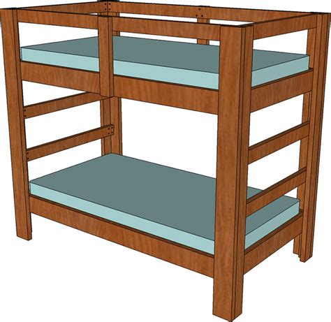 Twin Bunk Bed Dimensions Plans Elevation