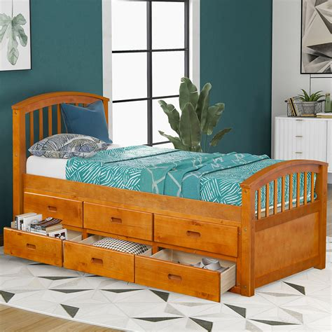 Twin Captains Bed With 6 Drawers Plans