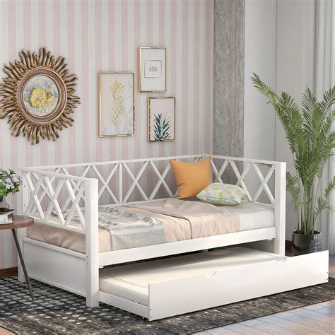 Twin Daybed Frame With Trundle