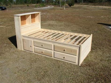 Twin Single Captains Bed Plans