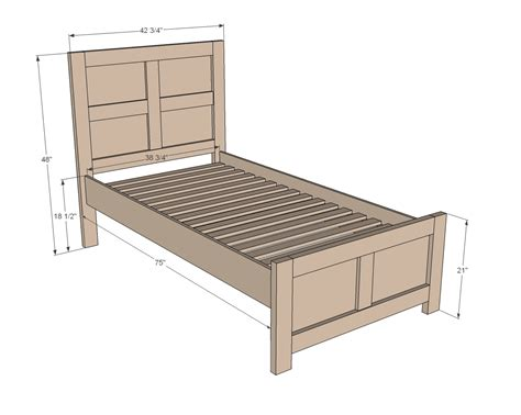 Twin Size Bed Frame Plans Free