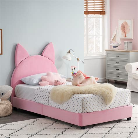 Twin-Bed-Frame-For-Toddler-Girl