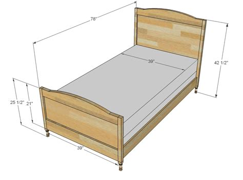 Twin-Bed-Plans-Dimensions