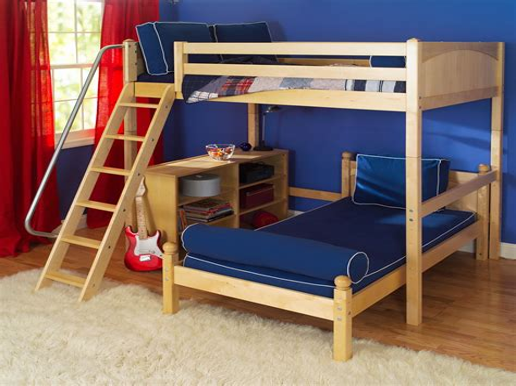 Twin-L-Shaped-Loft-Bed-Plans