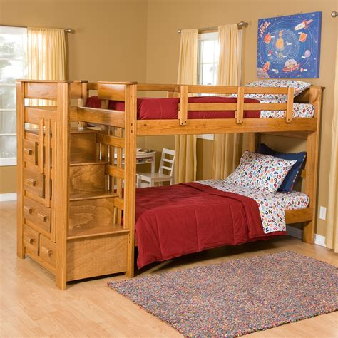 Twin-Loft-Bed-With-Stairs-Plans