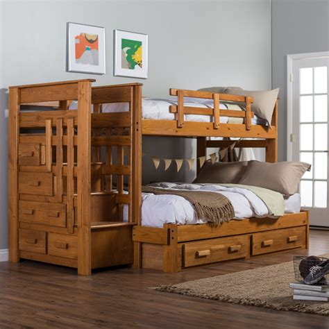 Twin-Over-Twin-Bunk-Bed-Plans-With-Stairs