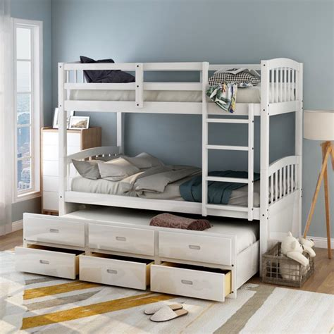 Twin-Over-Twin-Bunk-Bed-With-Trundle-Plans
