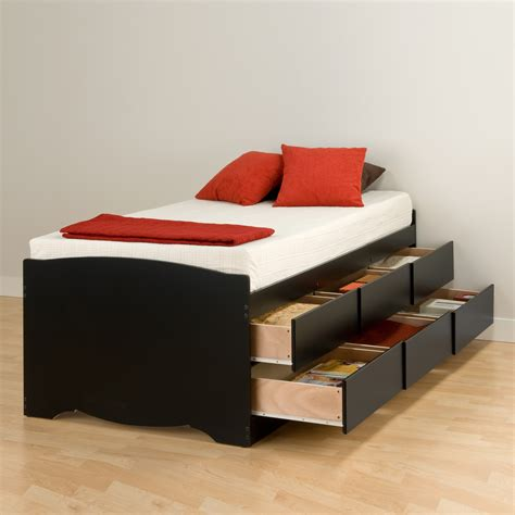 Twin-Platform-Bed-With-Storage-Drawers-Plans