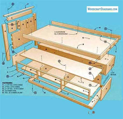 Twin-Platform-Bed-With-Storage-Plans