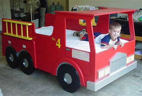 Twin-Size-Fire-Truck-Bed-Plans