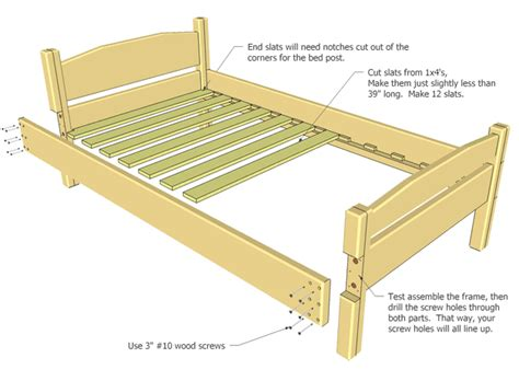 Twin-Size-Wood-Bed-Frame-Plans