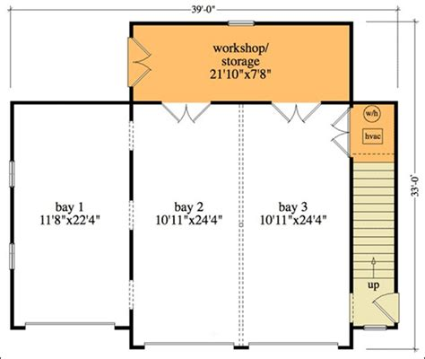 Two Car Garage Floor Plan In Cad