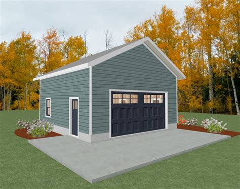 Two Car Garage Plans 24x24