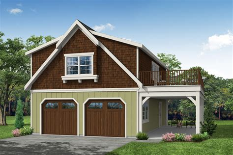 Two Car Garage Plans With Workshop And Living