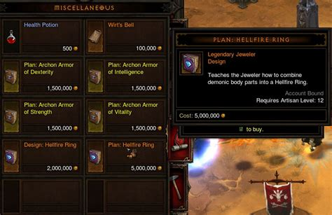 Two Hellfire Ring Plans