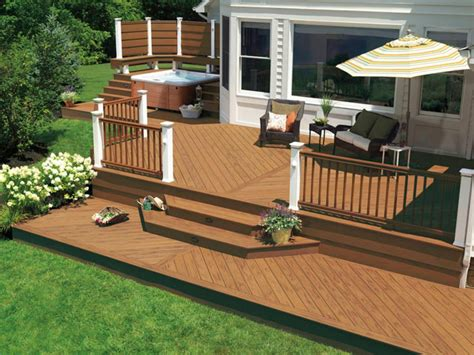 Two Level Deck Ideas With Hot Tub