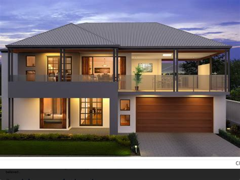Two Storey House Plan With Garage And Balcony