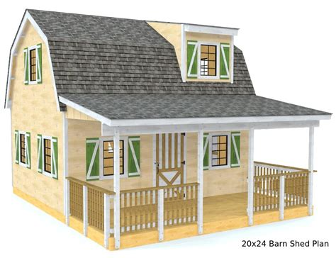 Two Story Mini Barn Plans
