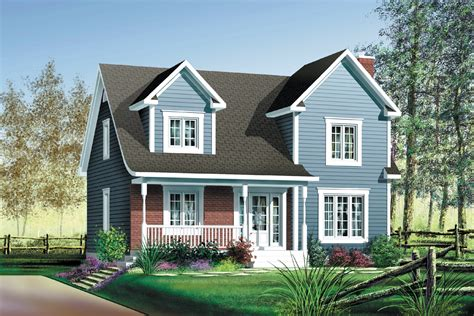 Two Story Small Country House Plans