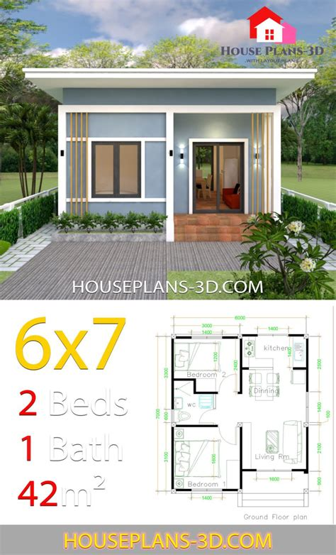 Two-Bedroom-House-Plans-With-Shed-Roof
