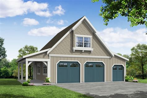 Two-Car-Garage-And-Workshop-Plans
