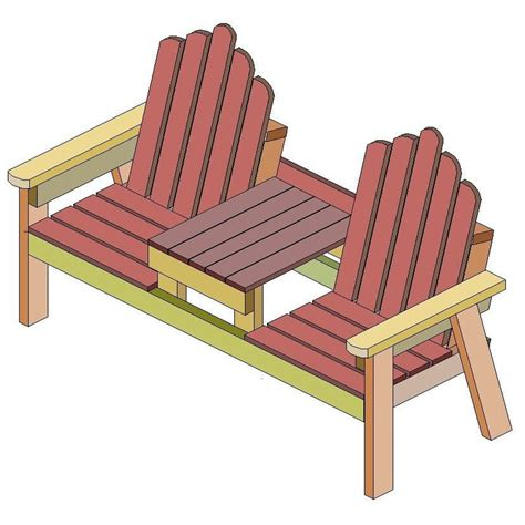Two-Seater-Bench-With-Table-Plans