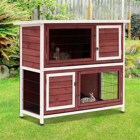 Two-Tier-Rabbit-Hutch-Plans