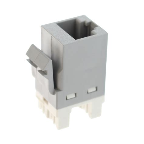 Tyco Electric 1375055-4 Category 6 Ethernet Jack, CAT6 SL 110 Jack, Gray