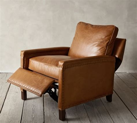 Tyler Leather Square Arm Recliner