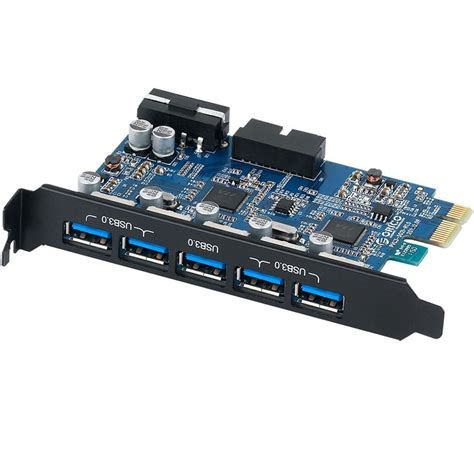 USB 3.0 PCI-E PCI 7 Port 5Gbps Super Speed Express Card 5 Port 20Pin Controller