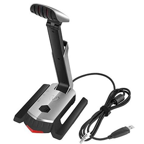 USB Microphone Directional Gaming Mic and Headset Stand 7.1 Channel Sound Card for PS4 PC Laptop Desktop Chatting Podcast Recording