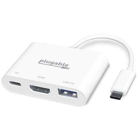 USB-C Digital AV Multiport Adapter,Type-c to HDMI Type-C USB 3 in 1 Video Digital AV Adapter