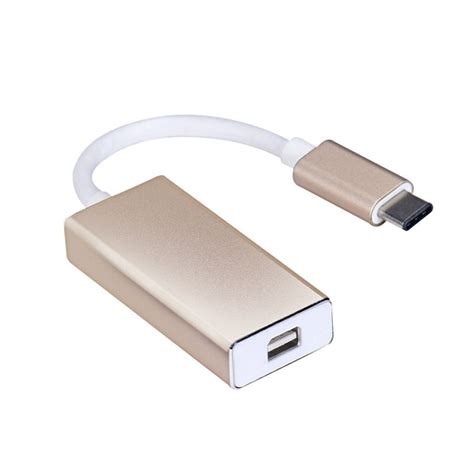 USB-C USB 3.1 Type C to HDMI 1080p HDTV Adapter Cable with Silver Aluminium Case