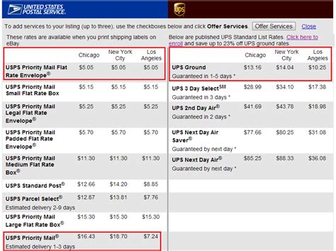 Post Office Shipping Calculator