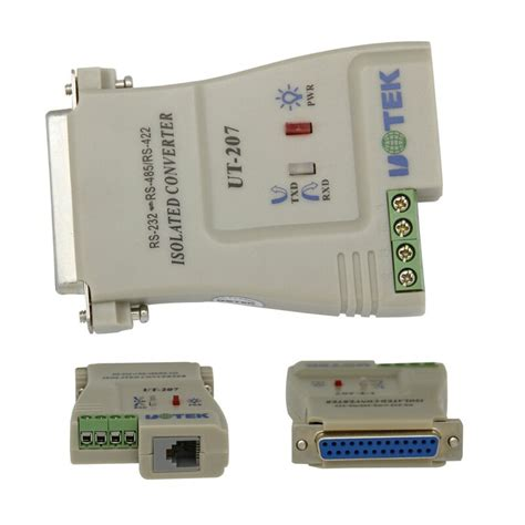 UT-207 RS-232C DB25 to RS-485/422 Converter with Optical Isolation RS-232C DB25 to RS485/RS422 485/422 Converter