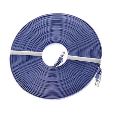 UXOXAS 5 Meters Cat6 Network Cable RJ45 PVC Network Transmission Support 10/100/1000 Mbps