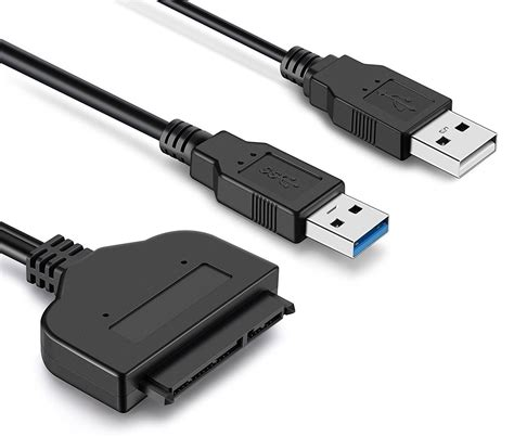 UXOXAS Double USB 3.0 Cable with Micro SATA Adapter