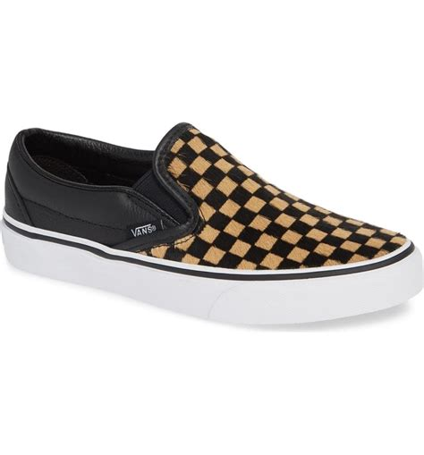 Ua Classic Genuine Calf Hair Slip-on Sneaker Vans