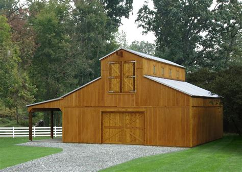 Ulrich Raised Center Aisle Barn Plans