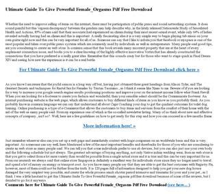 @ Ultimate Guide To Give Powerful Female Orgasms Pdf Free .