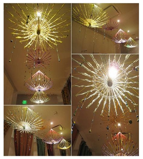 Umbrella Chandelier Diy With Chrismas
