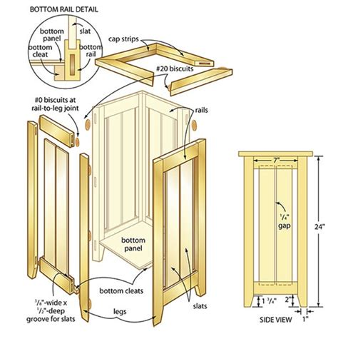 Umbrella-Stand-Woodworking-Plans