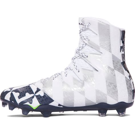 Under Armour Highlight MC Lacrosse Cleat - White/Navy